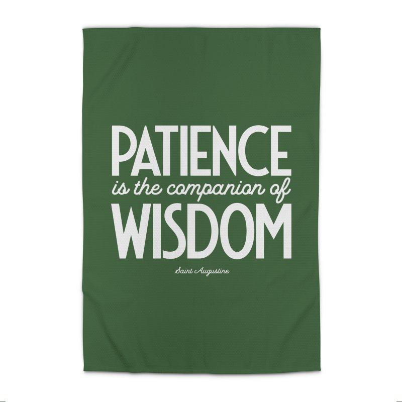 Patience is the companion of wisdom Home Rug by Brett Jordan's Artist Shop