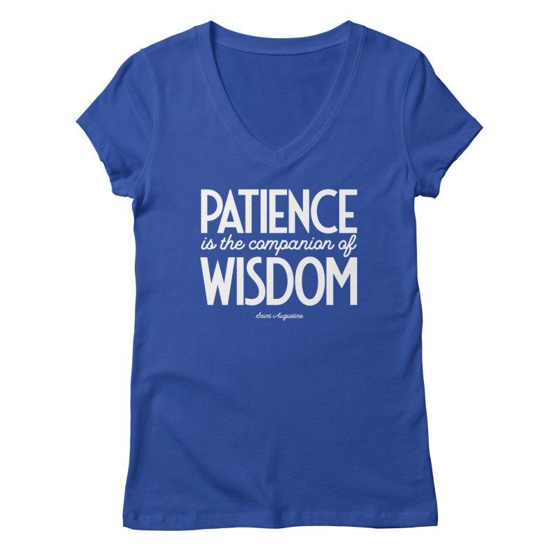 Patience is the companion of wisdom Women's V-Neck by Brett Jordan's Artist Shop