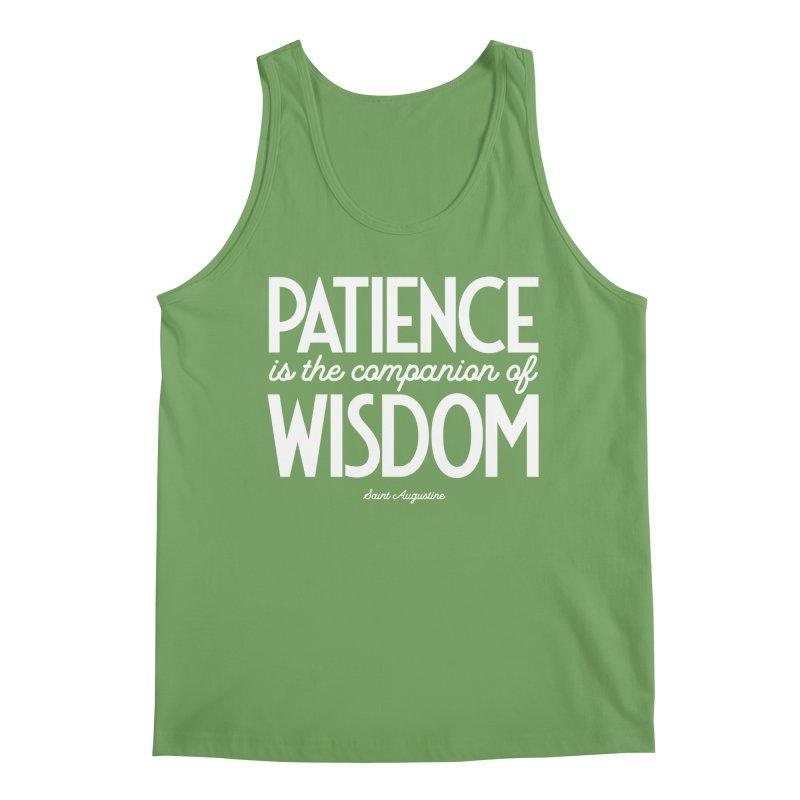 Patience is the companion of wisdom Men's Tank by Brett Jordan's Artist Shop