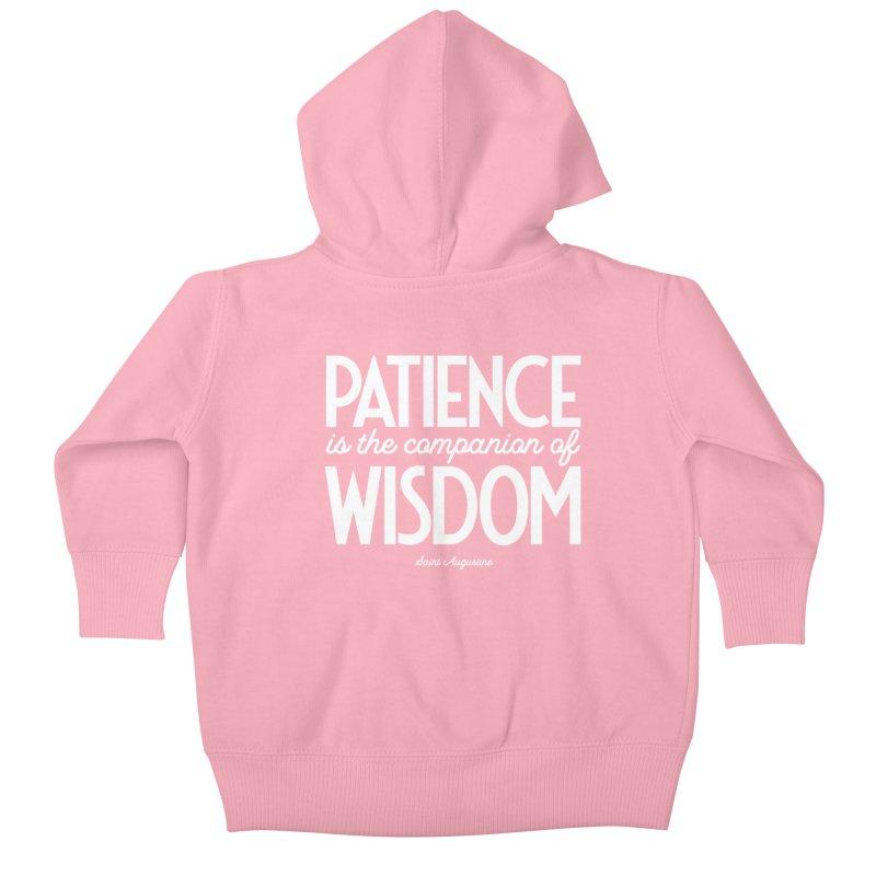Patience is the companion of wisdom Kids Baby Zip-Up Hoody by Brett Jordan's Artist Shop