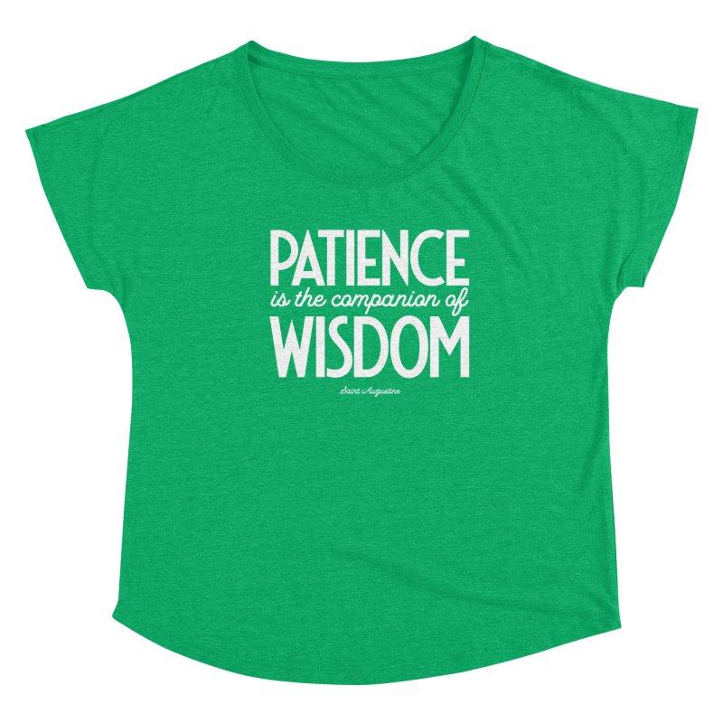 Patience is the companion of wisdom Women's Scoop Neck by Brett Jordan's Artist Shop