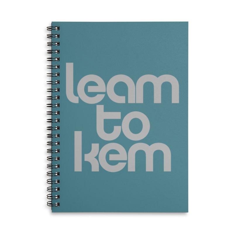 Learn to kern Accessories Notebook by Brett Jordan's Artist Shop