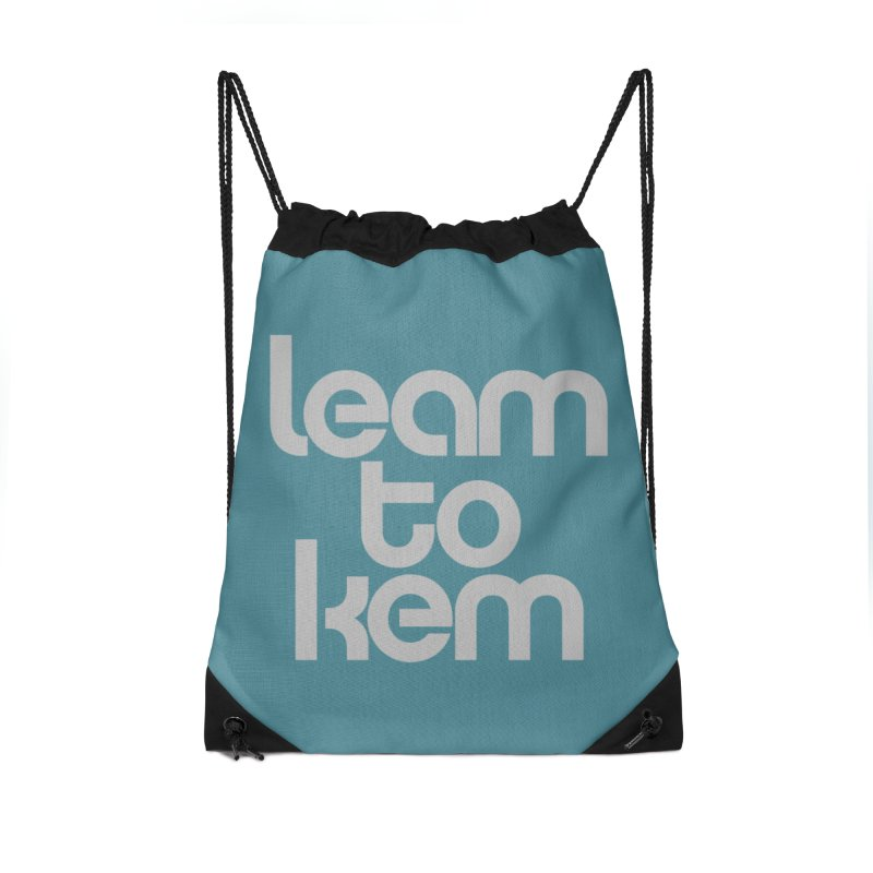 Learn to kern Accessories Drawstring Bag Bag by Brett Jordan's Artist Shop