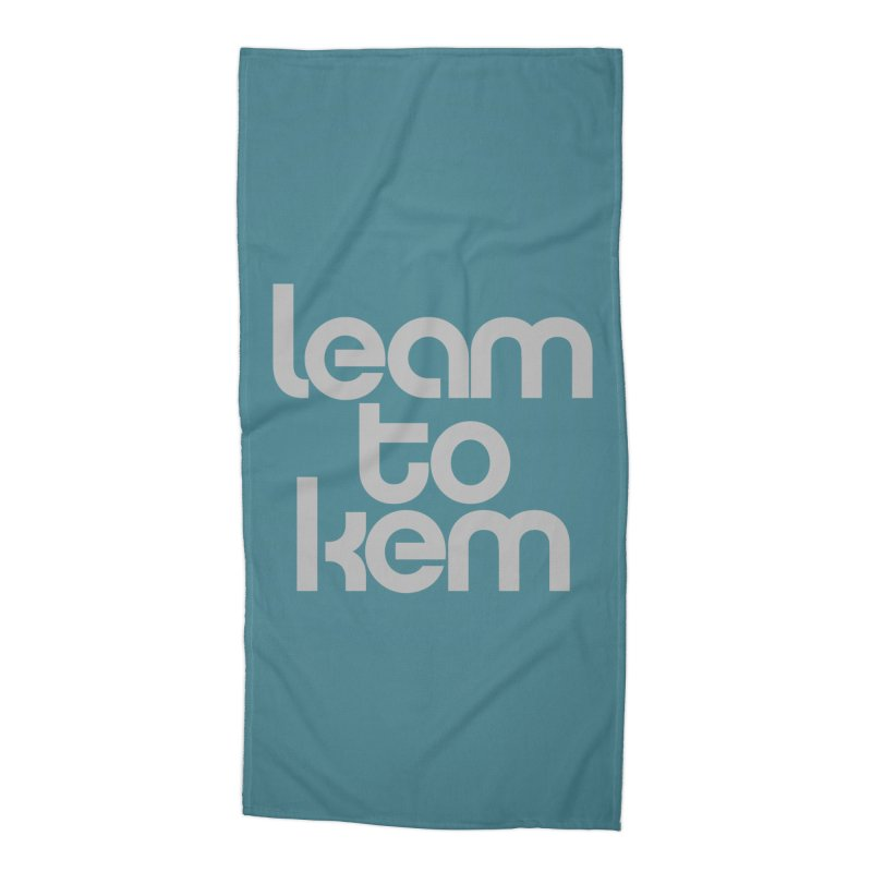 Learn to kern Accessories Beach Towel by Brett Jordan's Artist Shop