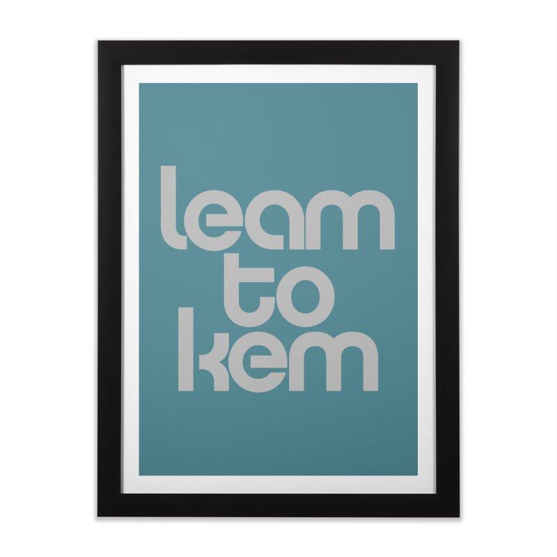 Learn to kern Home Framed Fine Art Print by Brett Jordan's Artist Shop