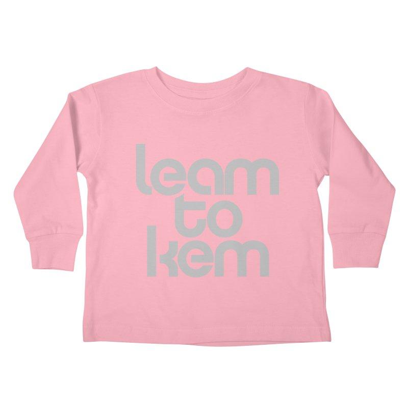 Learn to kern Kids Toddler Longsleeve T-Shirt by Brett Jordan's Artist Shop