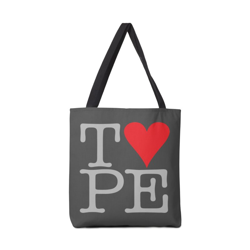 I Love Type Accessories Tote Bag Bag by Brett Jordan's Artist Shop
