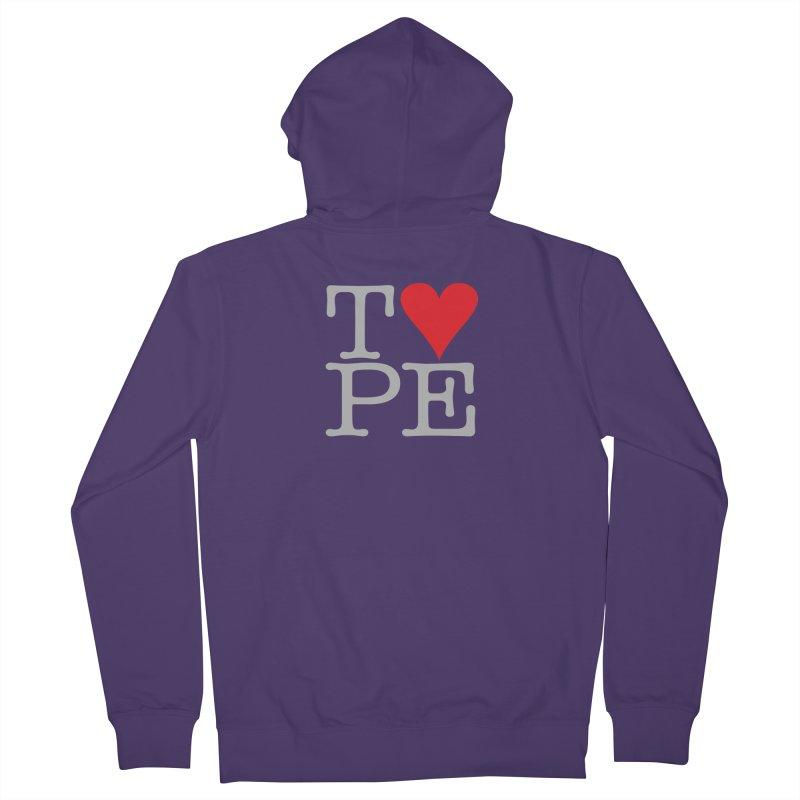 I Love Type Women's Zip-Up Hoody by Brett Jordan's Artist Shop