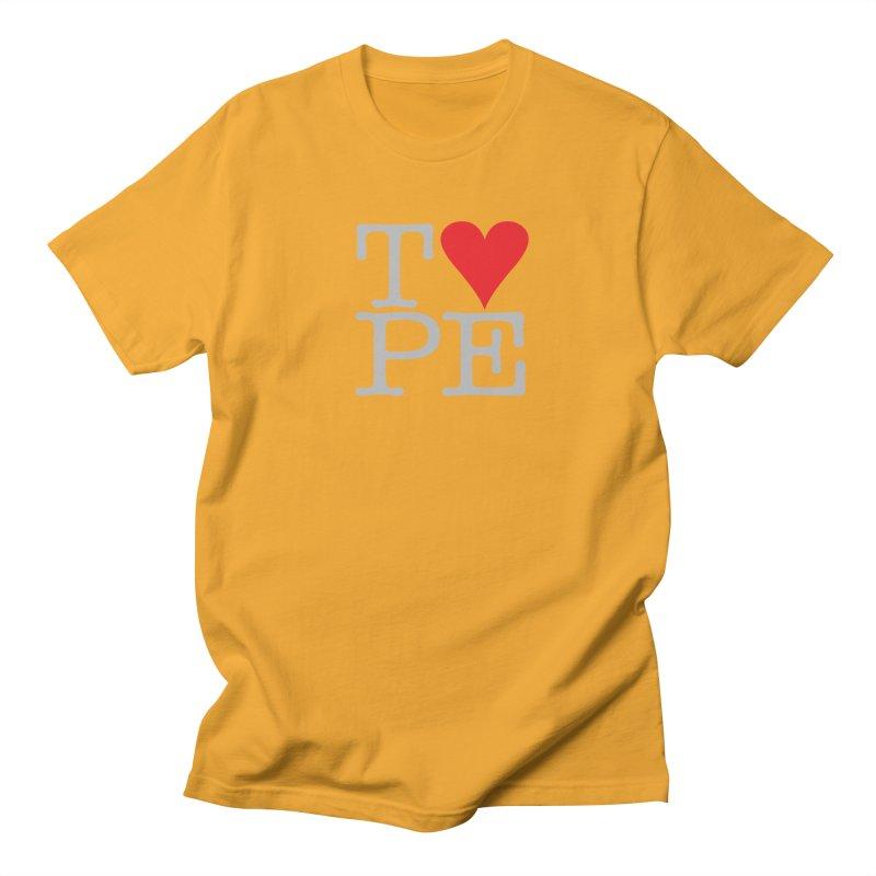 I Love Type Men's T-Shirt by Brett Jordan's Artist Shop