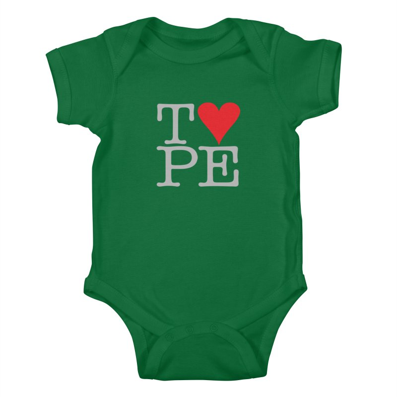 I Love Type Kids Baby Bodysuit by Brett Jordan's Artist Shop