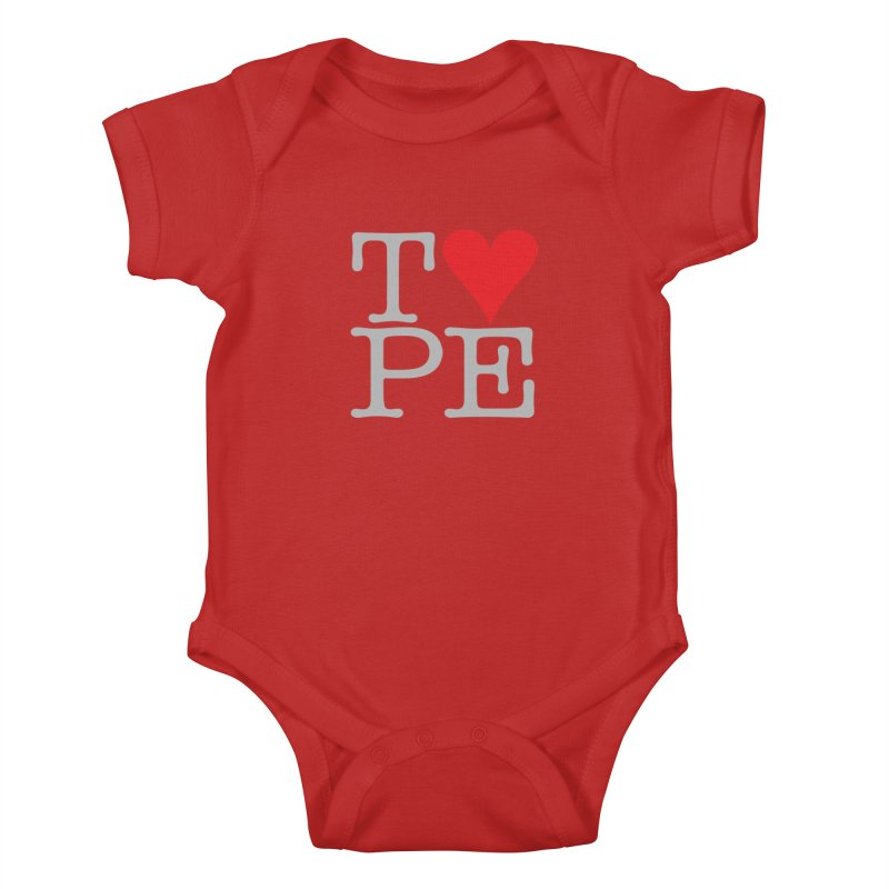 I Love Type Kids Baby Bodysuit by Brett Jordan's Artist Shop