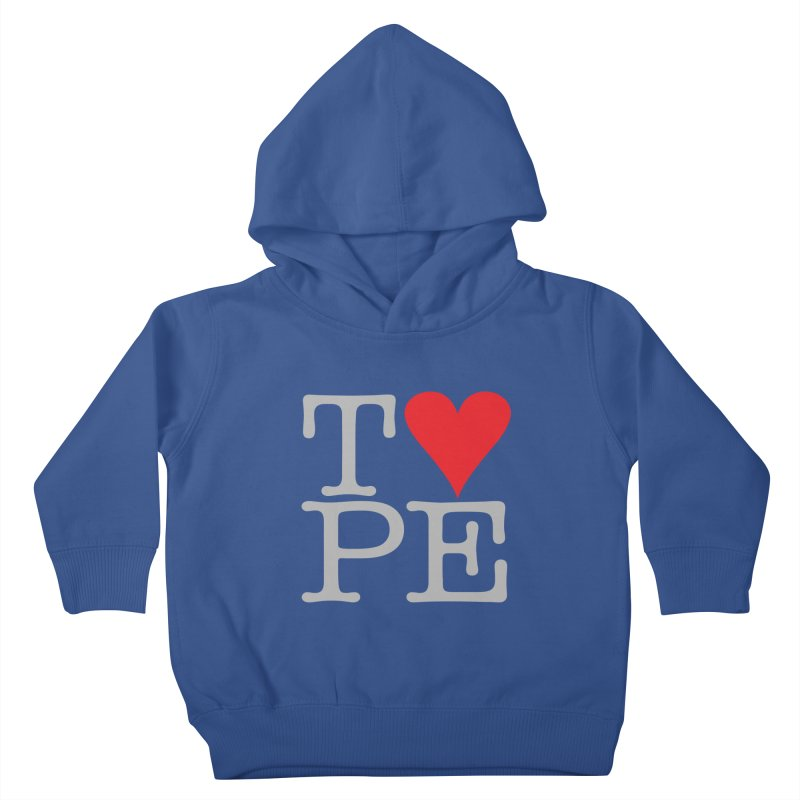 I Love Type Kids Toddler Pullover Hoody by Brett Jordan's Artist Shop
