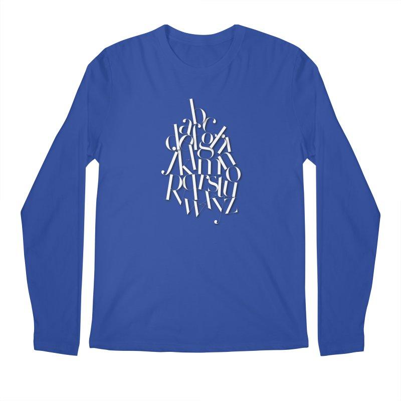Didot Alphabet Men's Longsleeve T-Shirt by Brett Jordan's Artist Shop