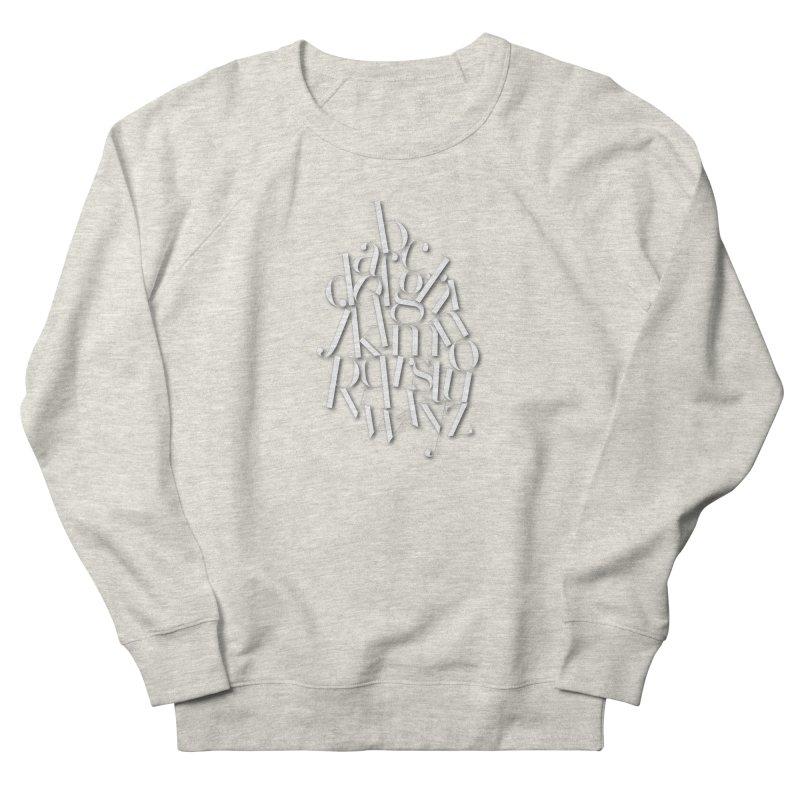 Didot Alphabet Women's French Terry Sweatshirt by Brett Jordan's Artist Shop