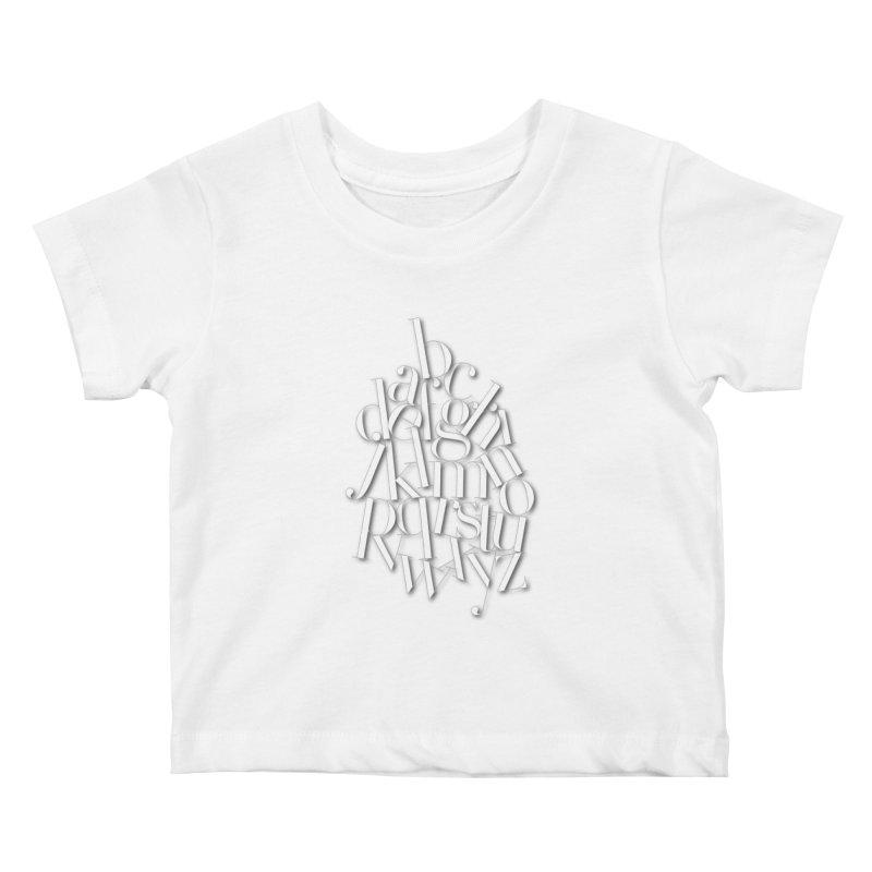 Didot Alphabet Kids Baby T-Shirt by Brett Jordan's Artist Shop