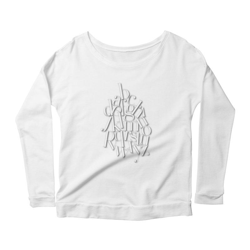 Didot Alphabet Women's Scoop Neck Longsleeve T-Shirt by Brett Jordan's Artist Shop