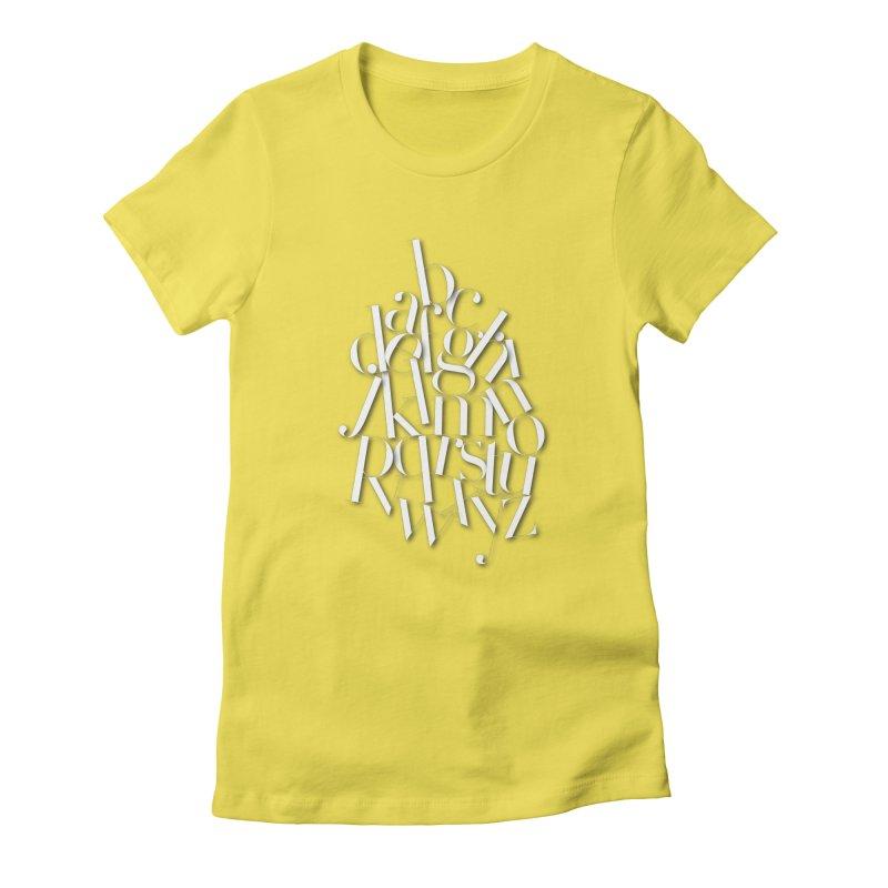 Didot Alphabet Women's Fitted T-Shirt by Brett Jordan's Artist Shop