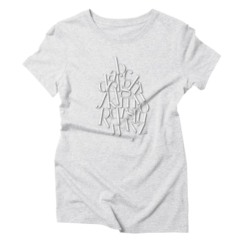 Didot Alphabet Women's T-Shirt by Brett Jordan's Artist Shop