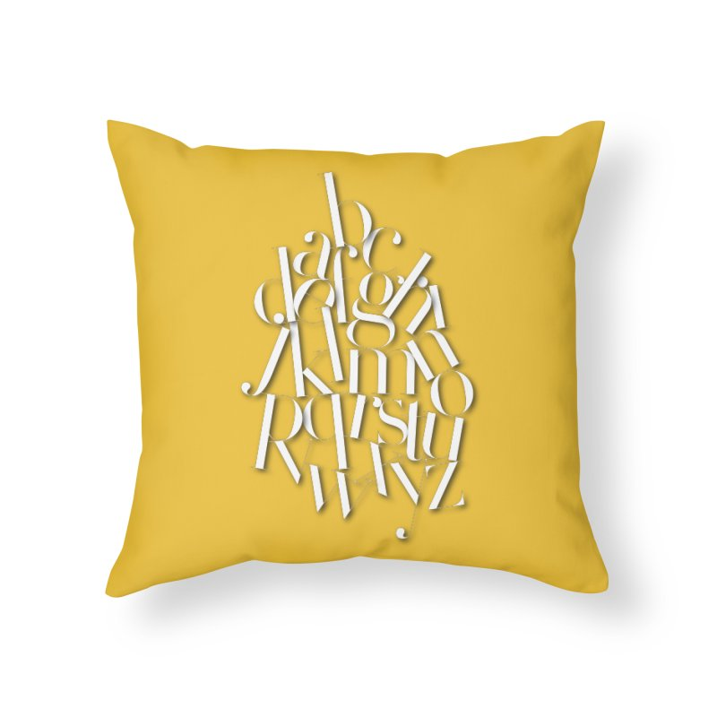 Didot Alphabet Home Throw Pillow by Brett Jordan's Artist Shop