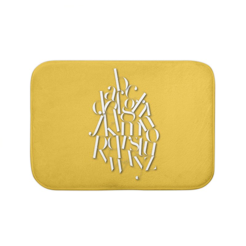 Didot Alphabet Home Bath Mat by Brett Jordan's Artist Shop