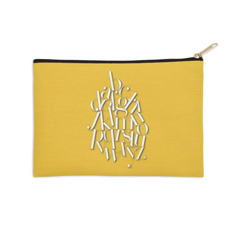 Didot Alphabet Accessories Zip Pouch by Brett Jordan's Artist Shop