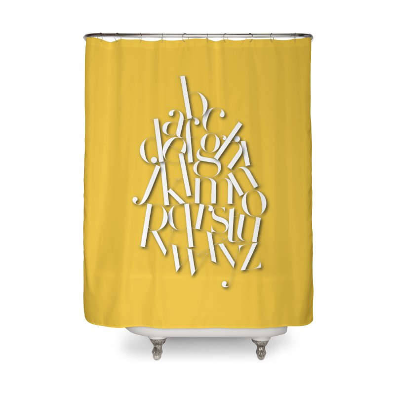 Didot Alphabet Home Shower Curtain by Brett Jordan's Artist Shop