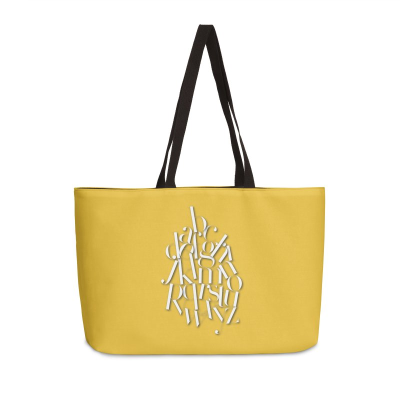 Didot Alphabet Accessories Weekender Bag Bag by Brett Jordan's Artist Shop