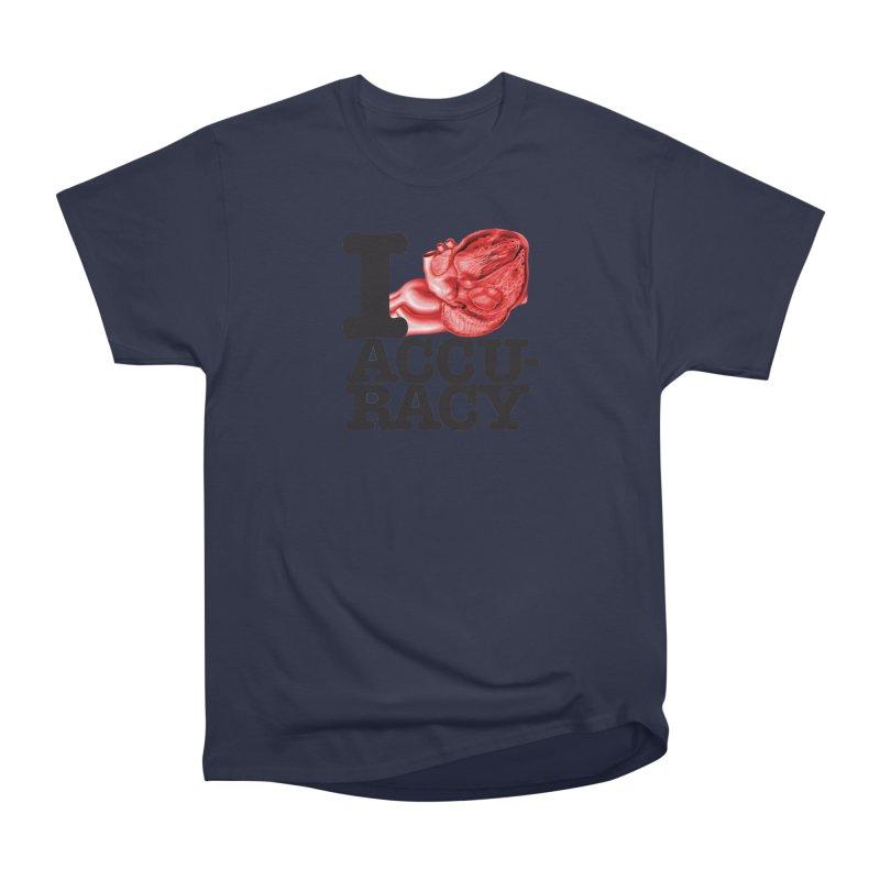 I Heart Accuracy Men's Heavyweight T-Shirt by Brett Jordan's Artist Shop