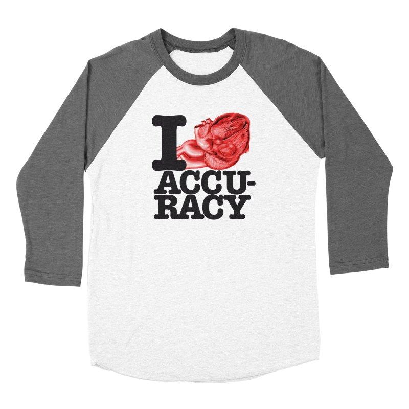 I Heart Accuracy Women's Baseball Triblend Longsleeve T-Shirt by Brett Jordan's Artist Shop