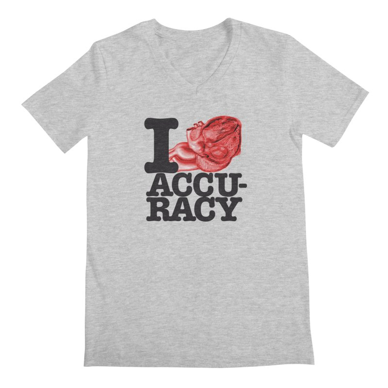 I Heart Accuracy Men's Regular V-Neck by Brett Jordan's Artist Shop