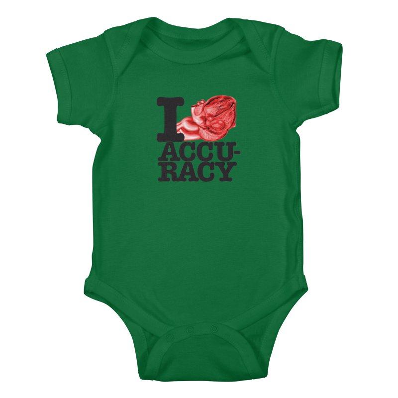 I Heart Accuracy Kids Baby Bodysuit by Brett Jordan's Artist Shop