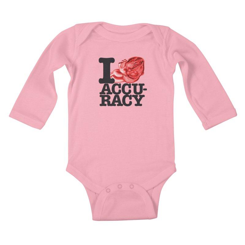 I Heart Accuracy Kids Baby Longsleeve Bodysuit by Brett Jordan's Artist Shop