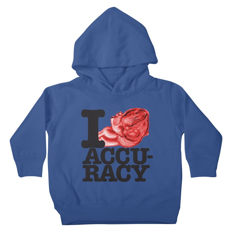 I Heart Accuracy Kids Toddler Pullover Hoody by Brett Jordan's Artist Shop
