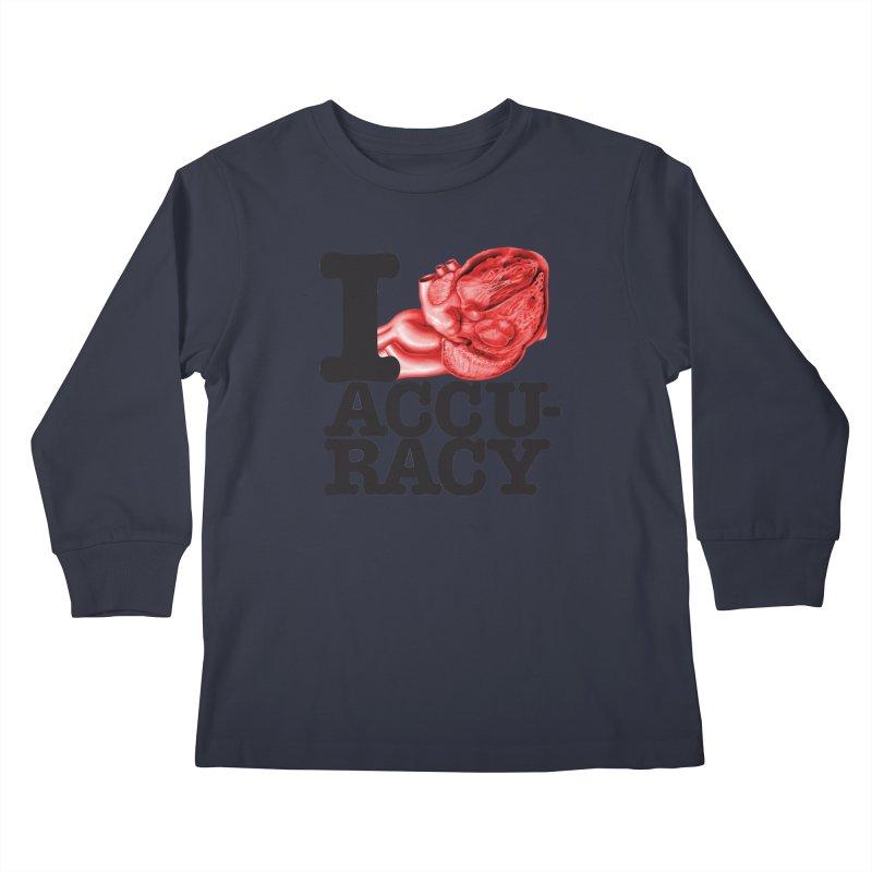 I Heart Accuracy Kids Longsleeve T-Shirt by Brett Jordan's Artist Shop