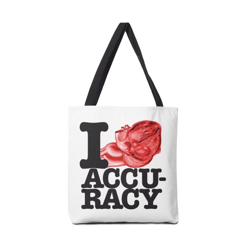 I Heart Accuracy Accessories Tote Bag Bag by Brett Jordan's Artist Shop