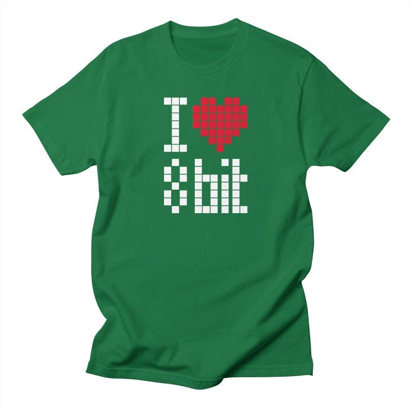 I Love Eight Bit Men's T-Shirt by Brett Jordan's Artist Shop