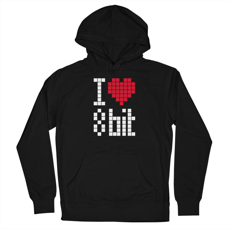 I Love Eight Bit Women's French Terry Pullover Hoody by Brett Jordan's Artist Shop
