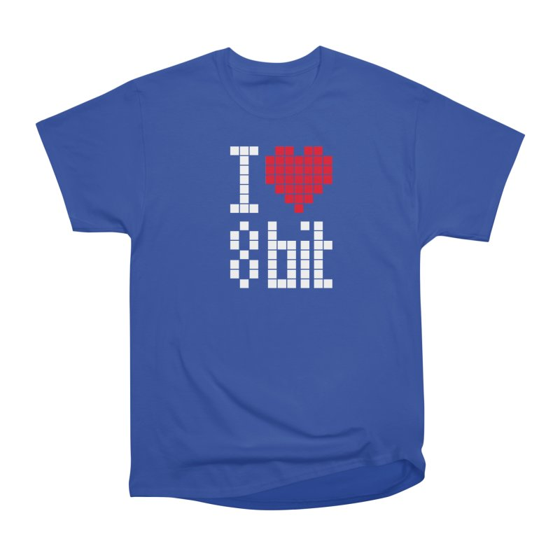 I Love Eight Bit Men's Heavyweight T-Shirt by Brett Jordan's Artist Shop