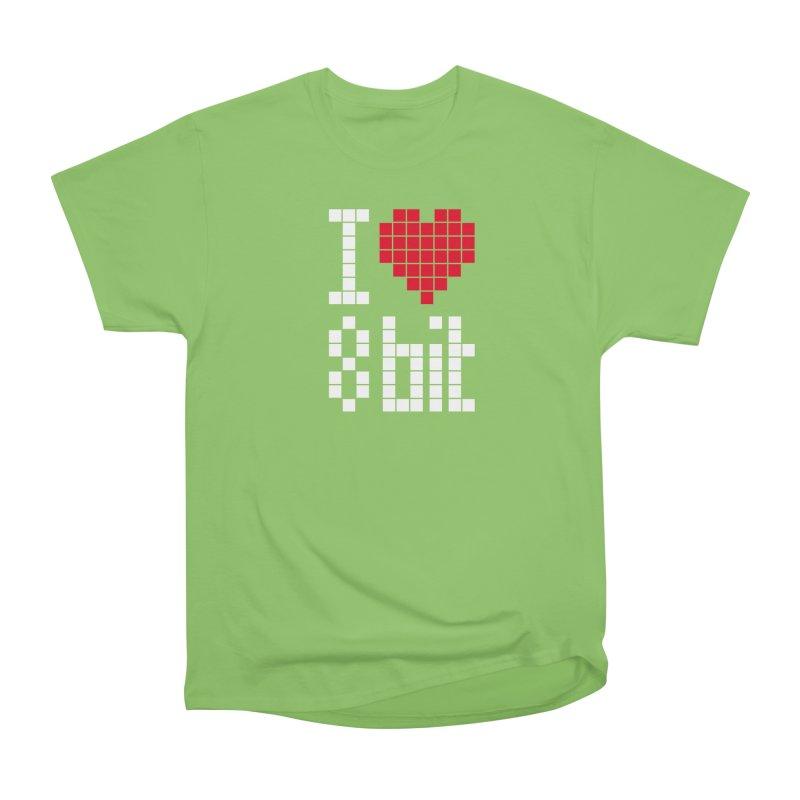 I Love Eight Bit Women's Heavyweight Unisex T-Shirt by Brett Jordan's Artist Shop