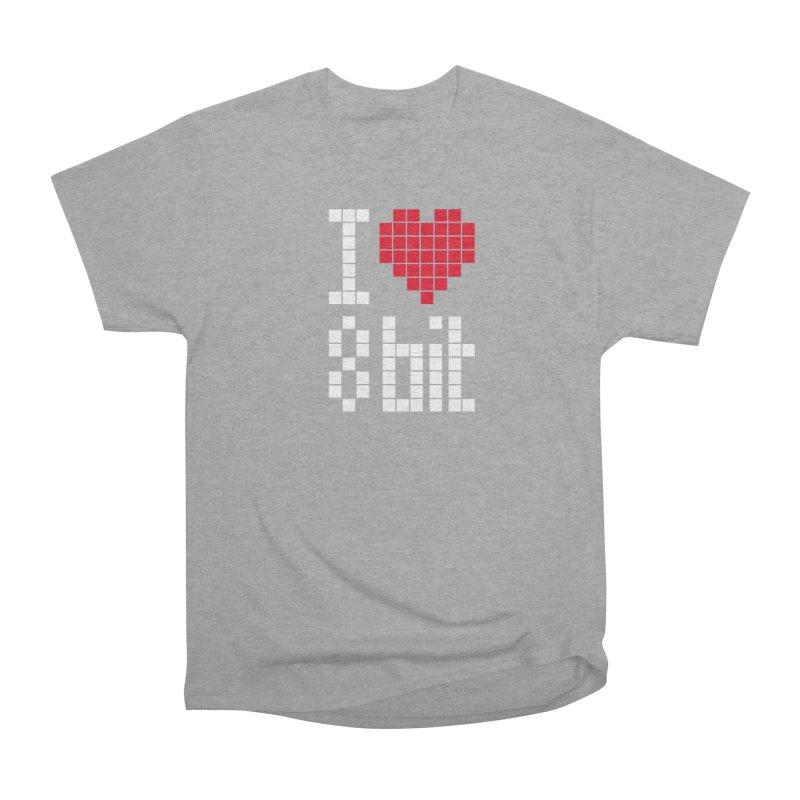 I Love Eight Bit Men's Heavyweight T-Shirt by Brett Jordan's Artist Shop