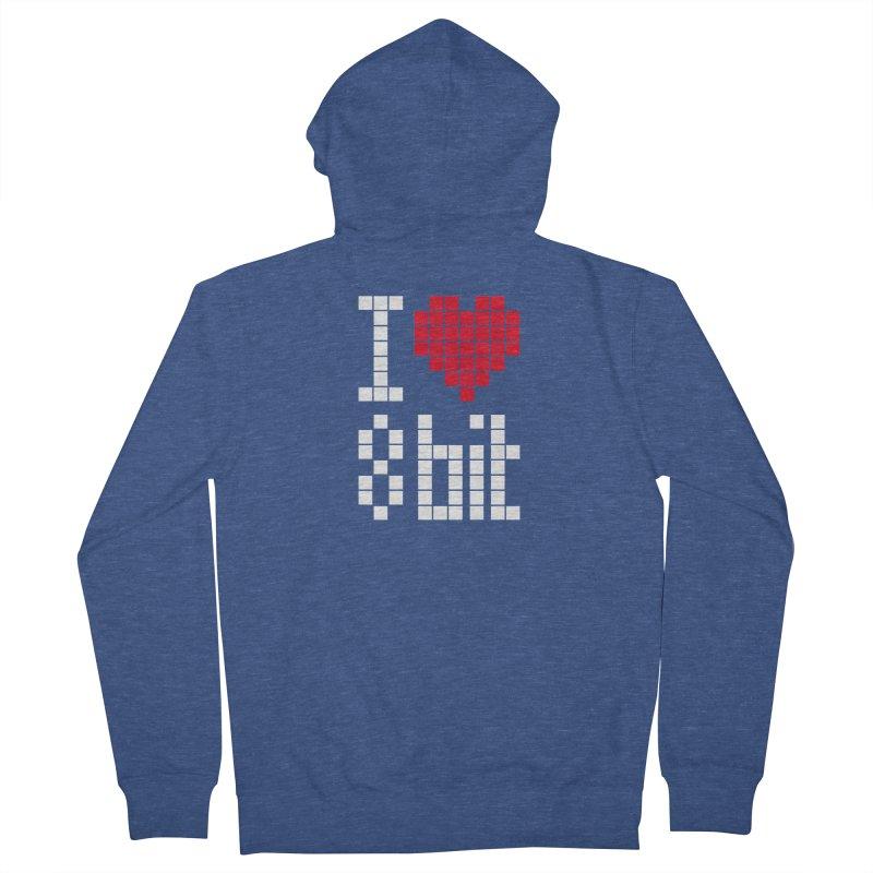 I Love Eight Bit Women's French Terry Zip-Up Hoody by Brett Jordan's Artist Shop