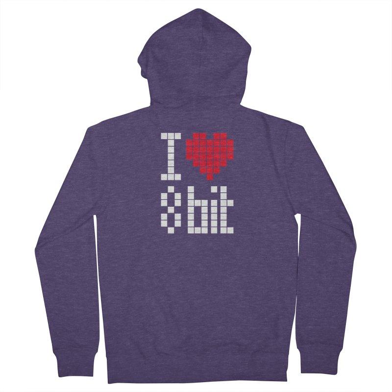 I Love Eight Bit Men's French Terry Zip-Up Hoody by Brett Jordan's Artist Shop