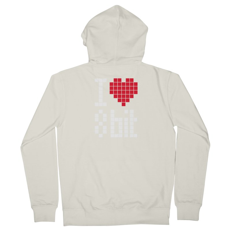 I Love Eight Bit Men's French Terry Zip-Up Hoody by Brett Jordan's Artist Shop