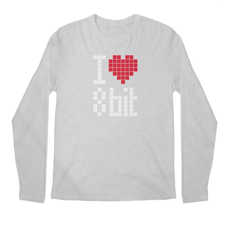 I Love Eight Bit Men's Regular Longsleeve T-Shirt by Brett Jordan's Artist Shop