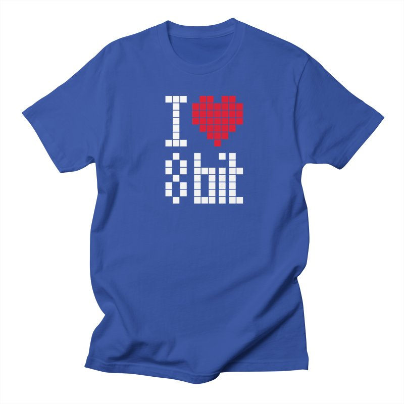I Love Eight Bit Women's Regular Unisex T-Shirt by Brett Jordan's Artist Shop