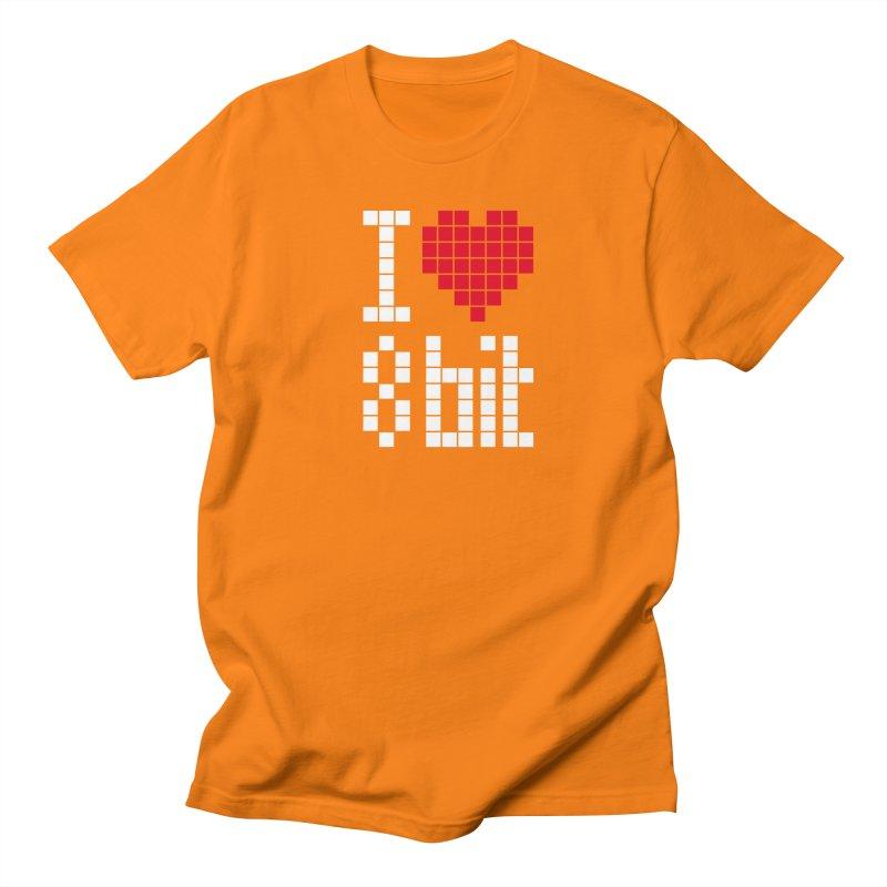 I Love Eight Bit Women's Regular Unisex T-Shirt by Brett Jordan's Artist Shop