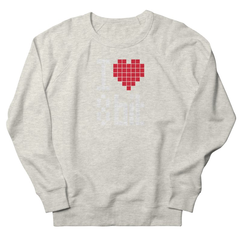 I Love Eight Bit Women's French Terry Sweatshirt by Brett Jordan's Artist Shop