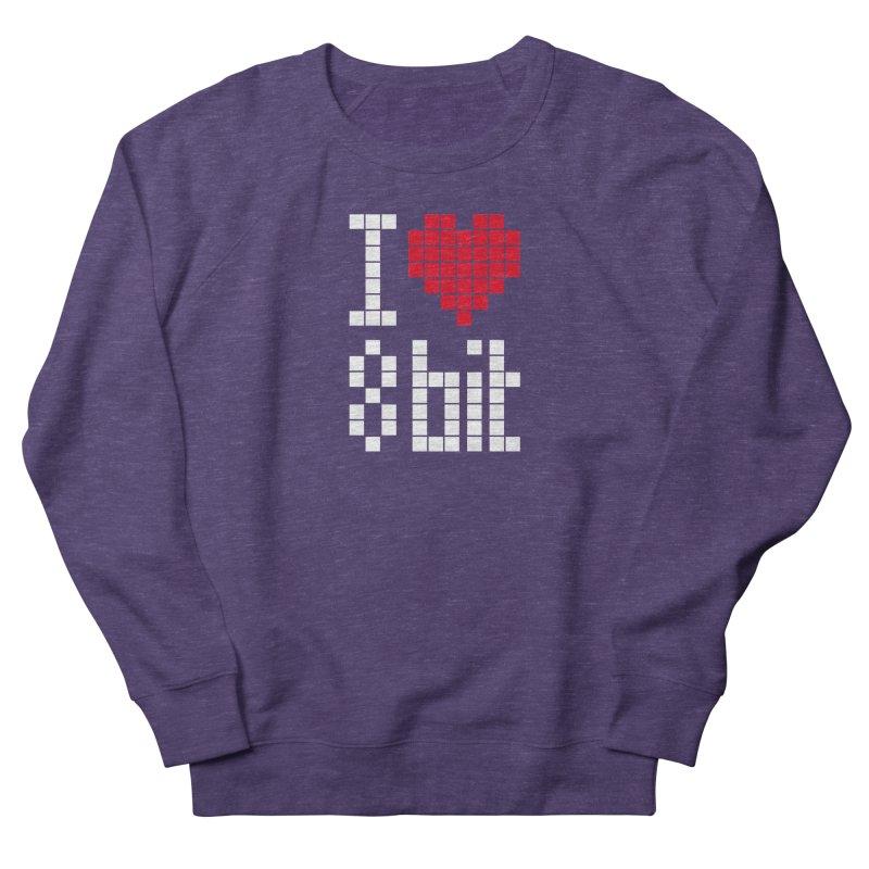 I Love Eight Bit Men's French Terry Sweatshirt by Brett Jordan's Artist Shop