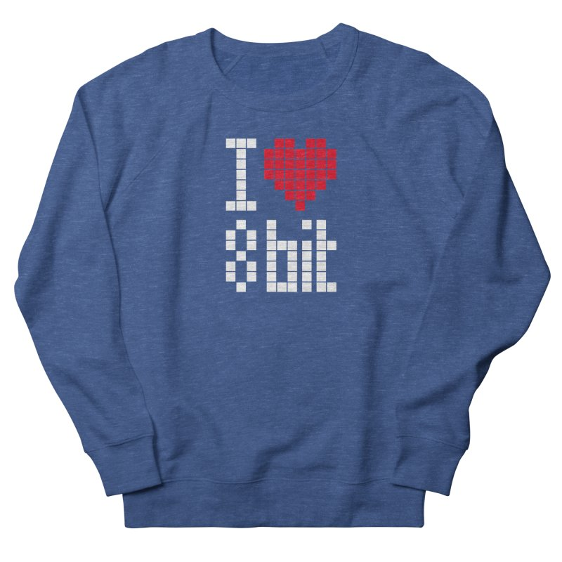 I Love Eight Bit Men's Sweatshirt by Brett Jordan's Artist Shop