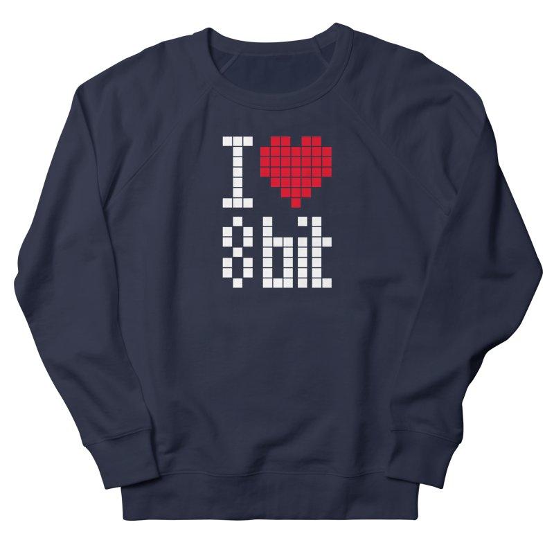 I Love Eight Bit Men's Sweatshirt by Brett Jordan's Artist Shop